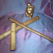 Bete de bambus pentru masaj cu capete speciale