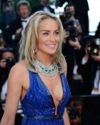 Actrita Sharon Stone, aparitie sexy la Festivalul de la Cannes