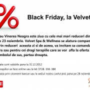 Black Friday, la Velvet SPA